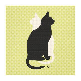 U escoge el gatito negro y blanco Catz del Lona Estirada Galerías