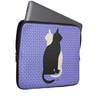 U escoge gatos blancos y negros del gatito del mangas computadora