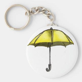 U está para el paraguas llavero redondo tipo pin