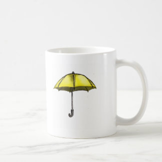 U está para el paraguas tazas de café