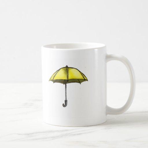 U está para el paraguas taza