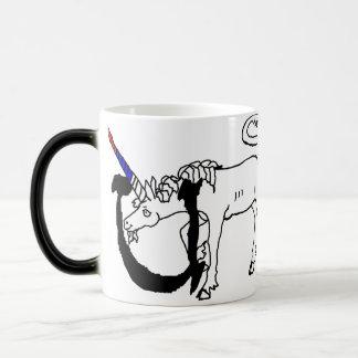 U está para el unicornio taza mágica