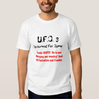 U.F.O. ¡s, uniformado para Obama, agradece a IDIOT Playeras