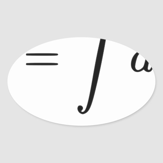 U = Fail Oval Sticker