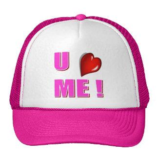 U HEART ME HAT ...PINK!
