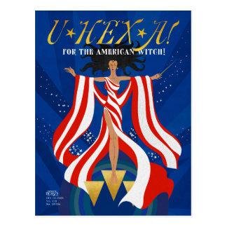 U HEX A Magazine Postcard