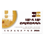 U - Initial Letter Foamy Coffee Cup Loyalty Punch Double-Sided Standard Business Cards (Pack Of 100)