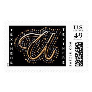U-Initial Monogram  Please View Notes Postage Stamp