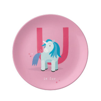 U is for... dinner plate