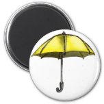 U is for Umbrella 2 Inch Round Magnet