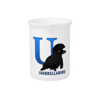 U is for Umbrellabird Pitcher