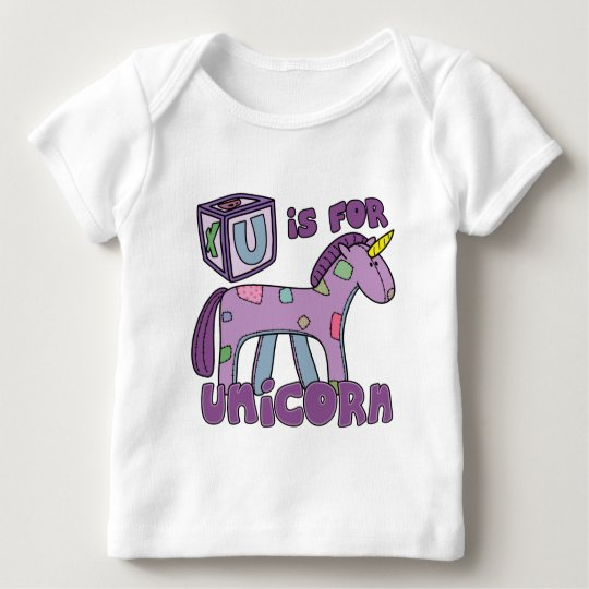 U is for Unicorn Baby T-Shirt