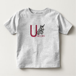 U is for Unicorn Toddler T-shirt