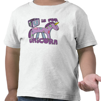 U is for Unicorn Toddler TShirt