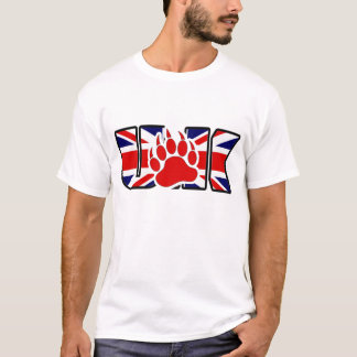 U.K BEAR - RED PAW ON THE FLAG - SHIRT