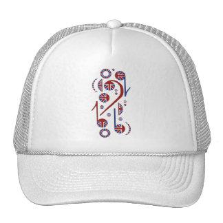 U K Flag Musical Notes Mesh Hats