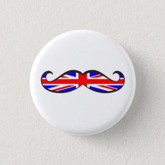 U.K. Flag Mustache Button