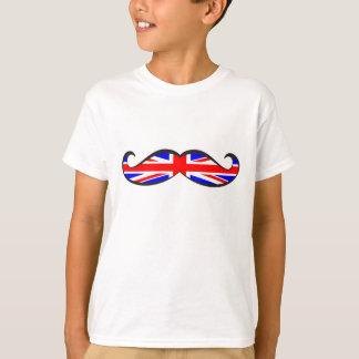 U.K. Flag Mustache T-Shirt