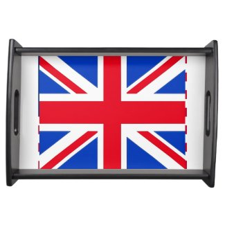 U. K. Flag serving tray