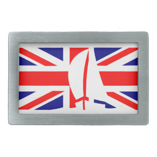U.K. Flag United Kingdom Sailing Yacht Nautical Belt Buckle