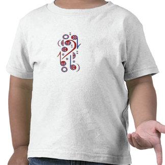 U.K. Niños de las notas musicales de la bandera Camisetas