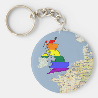U.K. Orgullo de GLBT Llavero Redondo Tipo Pin
