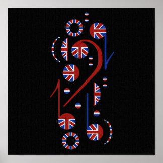 U.K. Y la música de los E.E.U.U. observa el poster