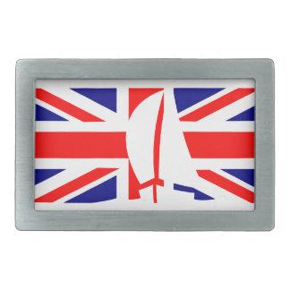 U.K. Yate de la navegación de Reino Unido de la ba Hebillas De Cinturón Rectangulares