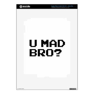 U MAD BRO - internet meme irc chat 4chan troll iPad 3 Skins