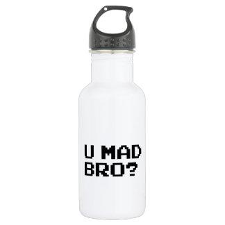 U MAD BRO? - internet/meme/irc/chat/4chan/troll Stainless Steel Water Bottle