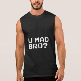U MAD BRO? - internet/meme/irc/chat/4chan/troll Sleeveless Shirt