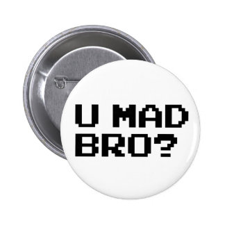 U MAD BRO? meme/chat/irc/4chan/troll/trolling 2 Inch Round Button