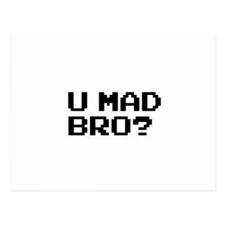 U MAD BRO? meme/chat/irc/4chan/troll/trolling Postcard