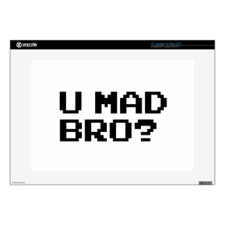 """U MAD BRO? meme/chat/irc/4chan/troll/trolling Decals For 15"""" Laptops"""