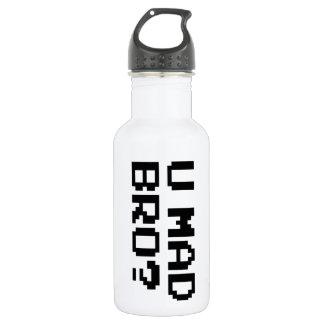 U MAD BRO? meme/chat/irc/4chan/troll/trolling Water Bottle