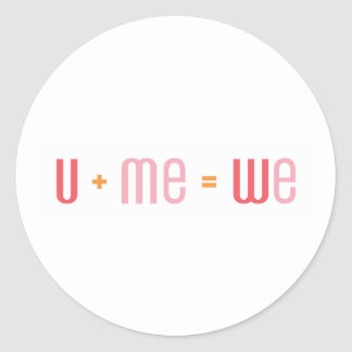 U + Me Sticker (Red and Pink)