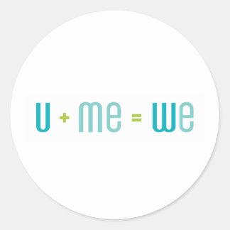 U + Me Sticker (Turquoise and Aqua)