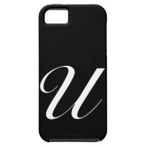 U Monogram Black IPhone 5 Case