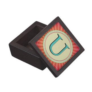 U MONOGRAM LETTER PREMIUM GIFT BOXES