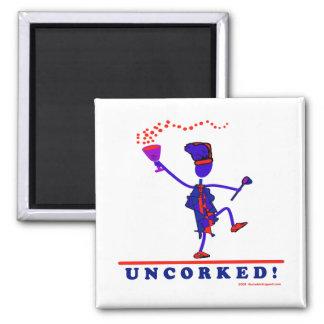 U N C O R K E D ! - Customized 2 Inch Square Magnet