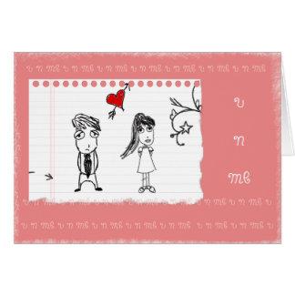 U n yo tarjeta del día de San Valentín