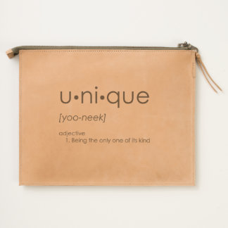 U•ni•que Leather Travel Pouch