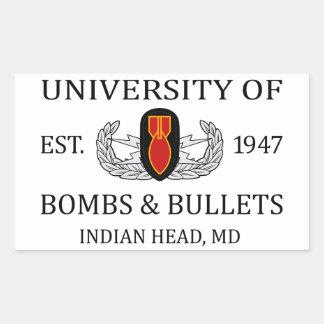 U of B&B Indian Head Rectangular Sticker