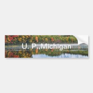 U. P. Michigan Fall Reflections Car Bumper Sticker