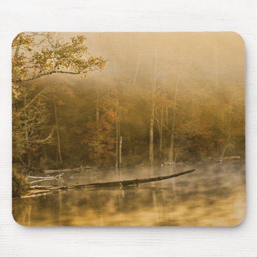 U.P., Michigan Fog Rising on Pond Mousepads