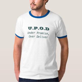 U.P.O.D, bajo promesa, encima entregan Playera