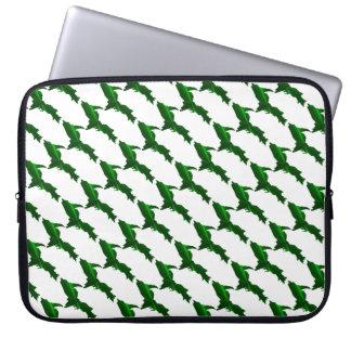 U.P. verde brillante Laptop Sleeve Fundas Ordendadores