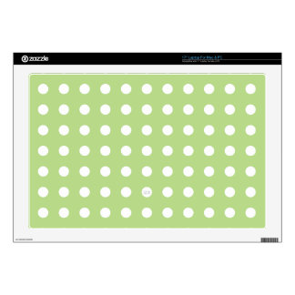 "U-pick Background Color/ Classic White Polka Dots 17"" Laptop Skins"