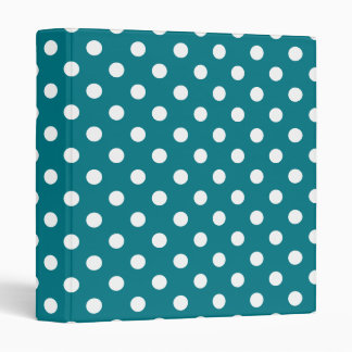 U-pick Background Color/ Classic White Polka Dots Binder