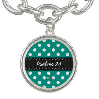 U-pick Background Color/ Classic White Polka Dots Bracelets